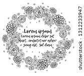 hand drawn flowers arranged un...   Shutterstock .eps vector #1312233947