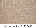 burlap background. natural... | Shutterstock . vector #131223431