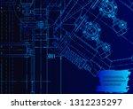 vector engineering illustration.... | Shutterstock .eps vector #1312235297