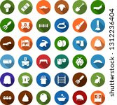 color back flat icon set  ... | Shutterstock .eps vector #1312236404