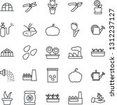 thin line icon set   factory... | Shutterstock .eps vector #1312237127