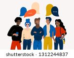 flat vector illustration with... | Shutterstock .eps vector #1312244837
