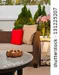 outdoor patio seating are with... | Shutterstock . vector #131225207