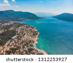aerial view of herceg novi city ... | Shutterstock . vector #1312253927