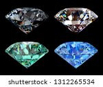 gray  rose  green  blue round... | Shutterstock . vector #1312265534