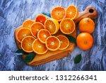 fresh sliced oranges   fruits... | Shutterstock . vector #1312266341