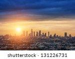 Sunrise Over Los Angeles City...