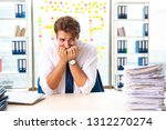 busy businessman working in the ...   Shutterstock . vector #1312270274