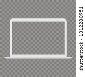 laptop with transparent screen... | Shutterstock .eps vector #1312280951