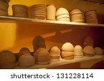 Pottery On Display At Qumran