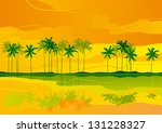tropical dreams. horizontal ... | Shutterstock . vector #131228327