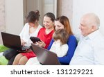 multigeneration family of with ... | Shutterstock . vector #131229221
