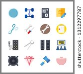 16 workshop icon. vector... | Shutterstock .eps vector #1312297787