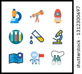 9 discovery icon. vector... | Shutterstock .eps vector #1312300697