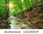 River Deep In Mountain Forest....