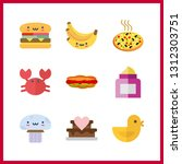 9 delicious icon. vector... | Shutterstock .eps vector #1312303751