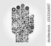 hand collected from objects of... | Shutterstock .eps vector #1312316507