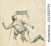bowling   an sportman. an hand... | Shutterstock . vector #1312320791
