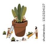 vector illustration of boots ... | Shutterstock .eps vector #1312324127
