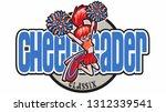 1990's retro cheerleader design | Shutterstock .eps vector #1312339541