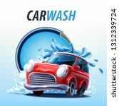 car cartoon mascot | Shutterstock .eps vector #1312339724