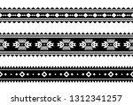 aztec vector ornament. set of...   Shutterstock .eps vector #1312341257