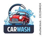 car wash logo | Shutterstock .eps vector #1312348424