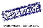 created with love stamp seal...