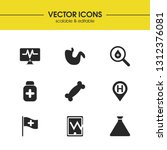 medical icons set with pill... | Shutterstock .eps vector #1312376081