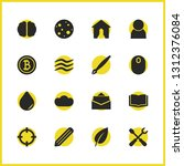 universal icons set with wave ...