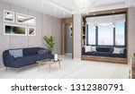 modern bright living room ... | Shutterstock . vector #1312380791