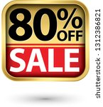 80  off sale golden label with... | Shutterstock .eps vector #1312386821