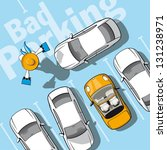 bad parking. illustration... | Shutterstock .eps vector #131238971