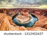horseshoe bend on colorado... | Shutterstock . vector #1312402637