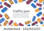 Traffic Jam. Large Congestion...