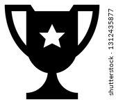 championship trophy vector icon | Shutterstock .eps vector #1312435877