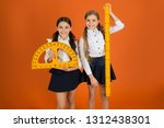 pupil cute girls with big... | Shutterstock . vector #1312438301