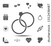rings  valentine's day icon....