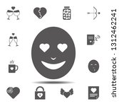 emoji in love icon. simple...