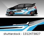 car wrap decal racing design... | Shutterstock .eps vector #1312473827