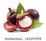 fresh mangosteen fruit | Shutterstock . vector #131247395