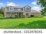 residential real estate exterior | Shutterstock . vector #1312478141