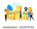vector flat illustration for...   Shutterstock .eps vector #1312479761