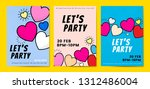 lets party hearts background... | Shutterstock .eps vector #1312486004