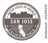 San Jose California Clip Art Vector San Jose California