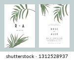minimalist botanical wedding...   Shutterstock .eps vector #1312528937