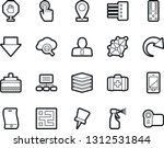 bold stroke vector icon set  ... | Shutterstock .eps vector #1312531844
