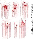 set of various blood or paint... | Shutterstock .eps vector #131253665
