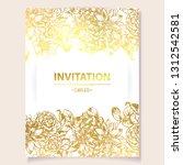 romantic wedding invitation...   Shutterstock . vector #1312542581