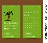beach event booking app design...